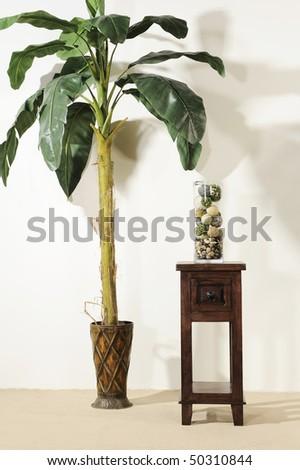 beautiful hard wood furniture - stock photo