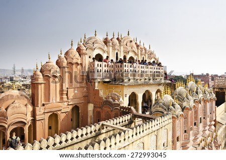 Beautiful hawa mahal at jaipur - stock photo