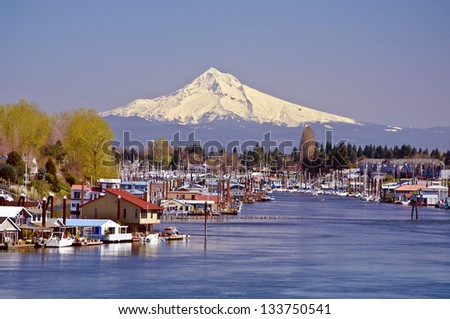 Beautiful hayden island - stock photo