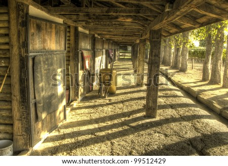 Beautiful HDR shot of the stables at a vineyard