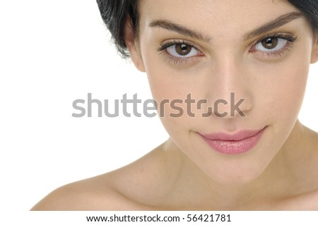 beautiful health skin of face - stock photo