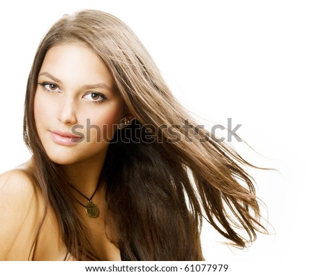 Beautiful Healthy Girl - stock photo