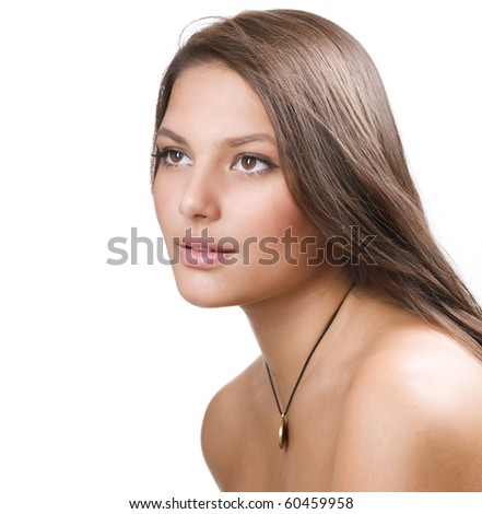 Beautiful Healthy Girl portrait - stock photo