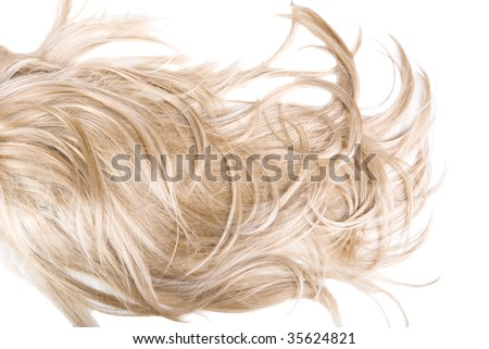 beautiful healthy shiny hair texture - stock photo