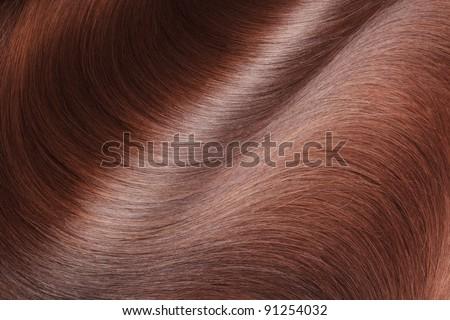 beautiful healthy shiny hair texture - stock photo