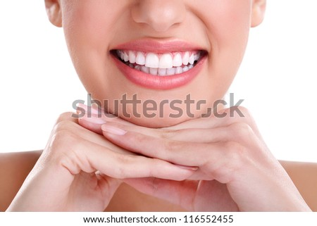 beautiful healthy smile - stock photo
