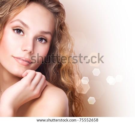 Beautiful Healthy Spa Girl - stock photo