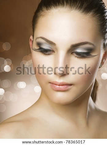 Beautiful Healthy Woman . Perfect skin. Face - stock photo