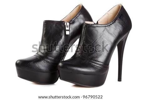 Beautiful High Heels Platform Pump Shoe Stock Photo 97570115 ...