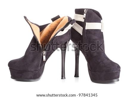 Beautiful High Heels Platform Pump Shoe In Italian Luxury Black ...