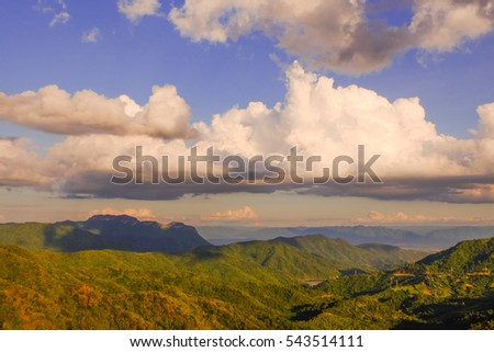 beautiful high mountain cloud and bluesky