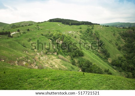 beautiful hilly landscape