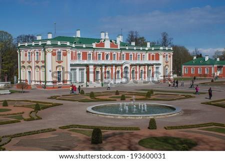 Beautiful historical palace in Kadriorg area, Tallinn, Estonia  - stock photo