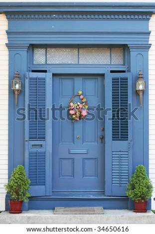 beautiful home entrance - stock photo