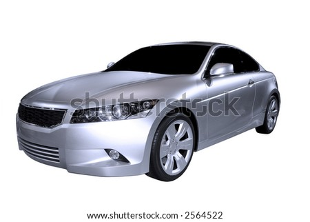 Beautiful  Honda Accord Concept coupe car isolated on a white background. Look in my gallery for more car photos like this.