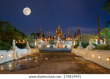 Beautiful Hotel Old - Thailand art legacy - Old-style hotels Of Chiang mai Thailand. - stock photo
