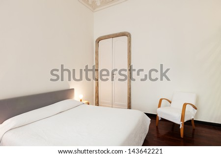 beautiful hotel room in old building, double room