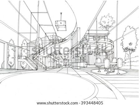 Beautiful House- Interior design - stock photo