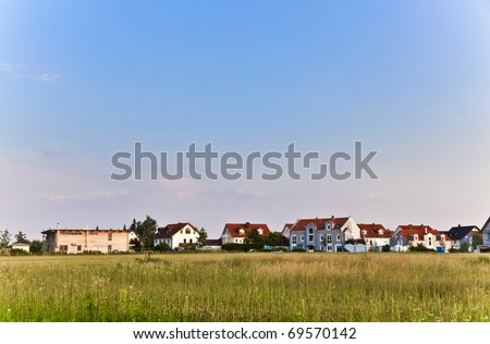 beautiful housing area in Munich in Nature