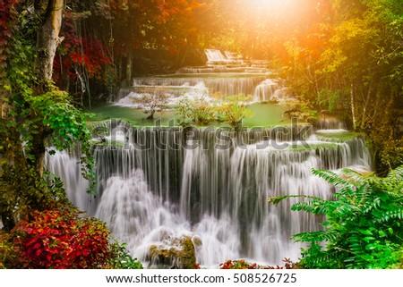 beautiful soft waterfall in - photo #27