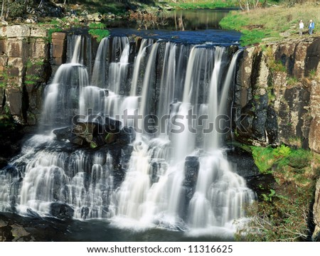 Beautiful huge Ebor falls in New South Wales state of Australia - stock photo