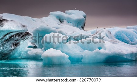 Beautiful icebergs in Iceland