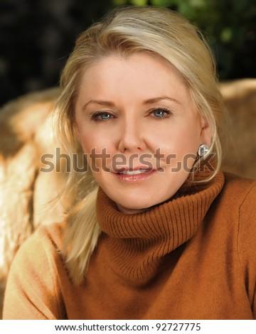 Beautiful Image Of a senior Glamour Model - stock photo