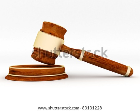 beautiful image of judicial attributes on a white background