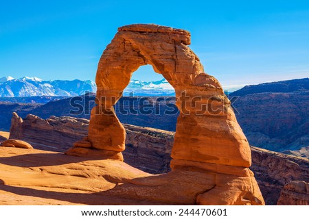 Beautiful Image taken at Arches National Park in Utah - stock photo