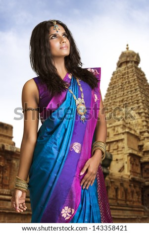 beautiful indian girl in indian girl in traditional indian girl