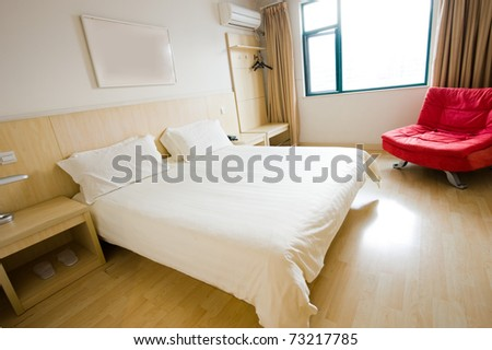 beautiful interior of a modern bedroom. - stock photo