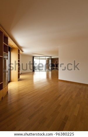 beautiful interior of the penthouse , view - stock photo