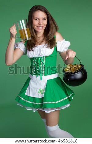 Beautiful Irish Woman - stock photo