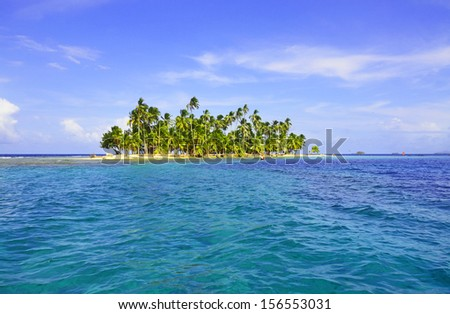 Beautiful island - stock photo