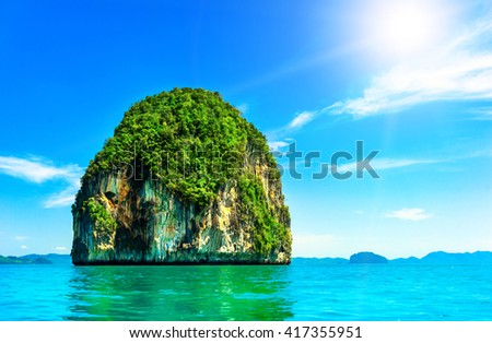 Beautiful island in Thailand - stock photo