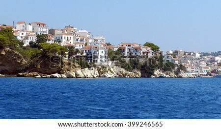 Beautiful island of Skiathos in Greece - stock photo