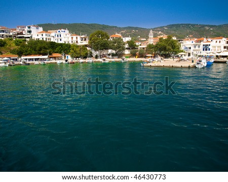 Beautiful island of Skiathos in Greece