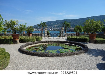 Beautiful Isola Bella on Lake Maggiore in Italy - stock photo