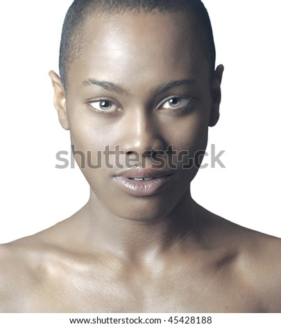 Beautiful Isolated Image of a Afro American Woman - stock photo