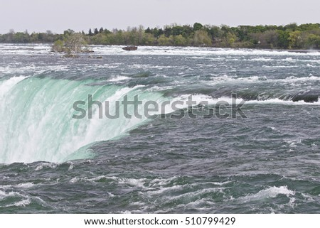 Beautiful isolated photo of the amazing Niagara falls Canadian side