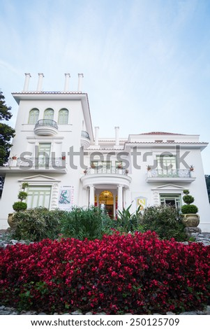 Beautiful Italian villa. Italian architecture. - stock photo