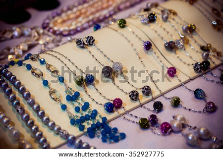 Beautiful jewelry. - stock photo