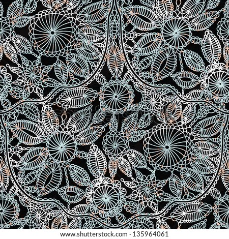 Crochet Patterns Vector : beautiful lace crochet work seamless wallpaper pattern background for ...