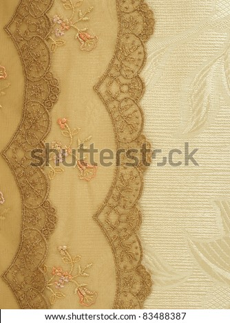 beautiful  lace with floral ornament - stock photo