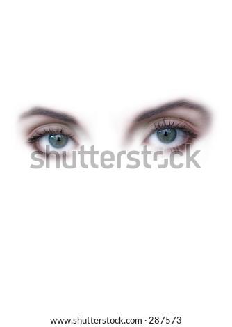 beautiful lady eyes - stock photo
