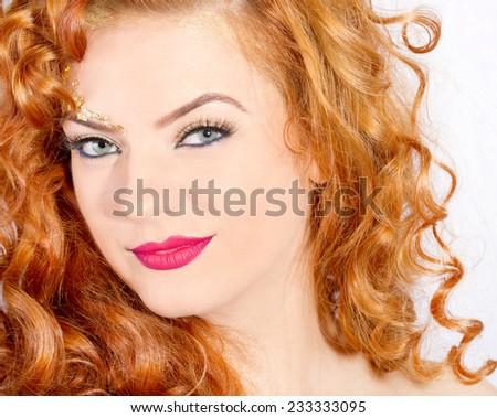 Beautiful lady makeup  - stock photo