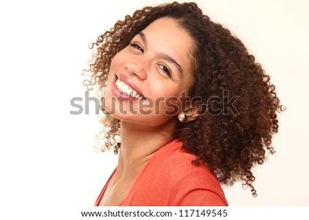 Beautiful Lady with a beautiful face - stock photo