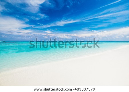 Beautiful lagoon beach on the tropical island paradise of Koh Tachai, Similan National Park, Thailand,vacation concept,holidays concept
