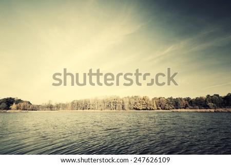 Beautiful lake. - stock photo