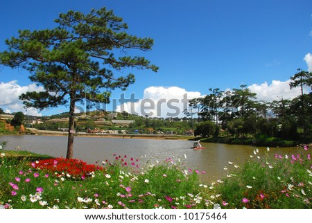 beautiful lake in dalat, vietnam